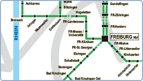 Baden Wurttemberg Karte Db.Fahrradmitnahme